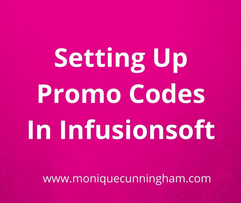 Setting up Promo Codes in Infusionsoft