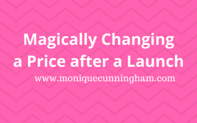 Magically Change the Price After a Launch